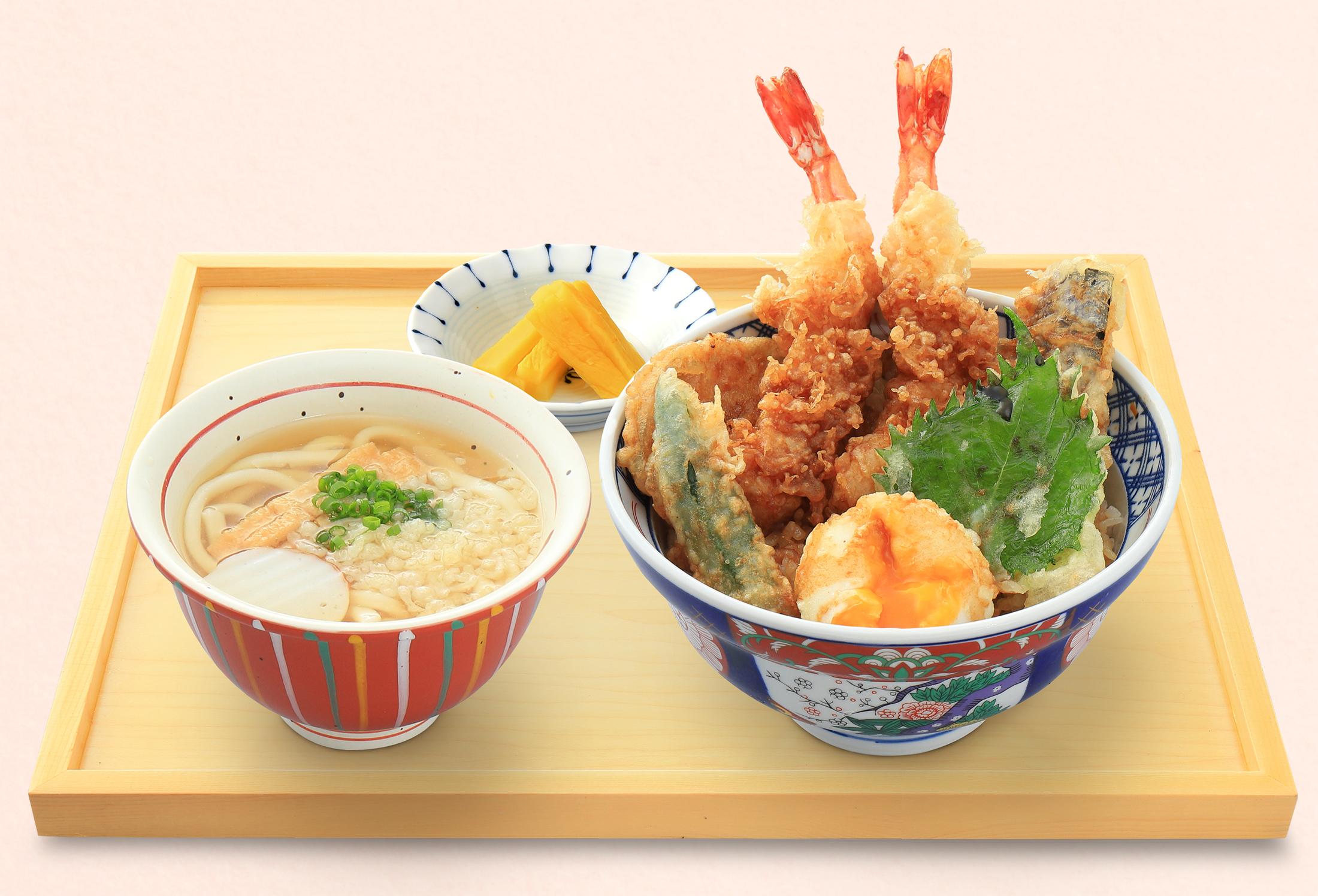 釜ごはん・丼㈪大海老天丼セット