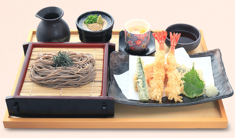 寿司天ぷらセット㈰大海老天ざるセット