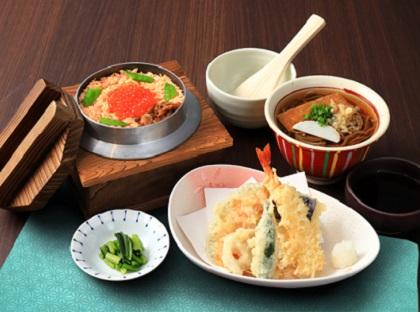 天ぷら鮭いくら釜ご飯セット