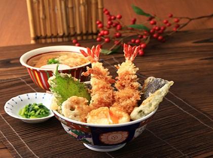 大海老天丼麺セット