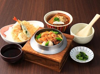 天ぷら鶏釜ご飯セット